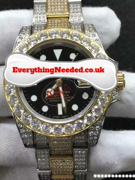 Fully Iced Out Rolex Mariner Everything Needed