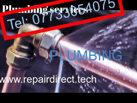 Professional  plumber  repairs and  does  new  installations