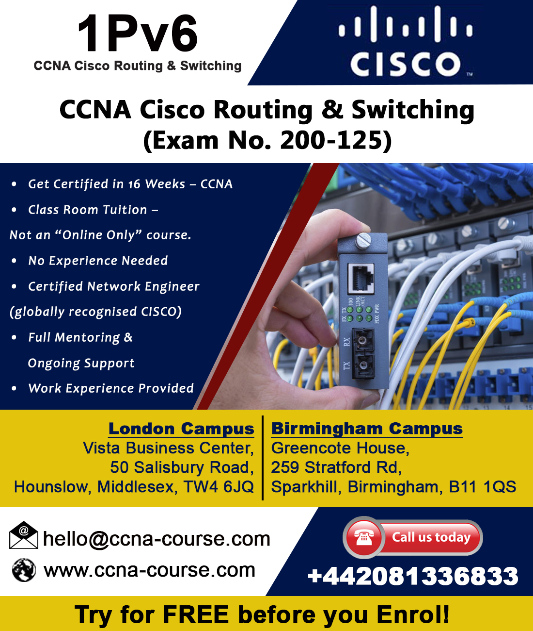 Free CCNA Training…Study CCNA for free!!!
